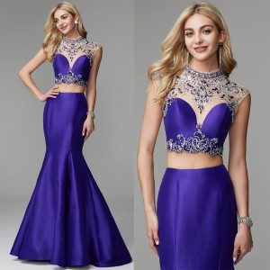 Beading Crystal Prom Dress Evening Dress