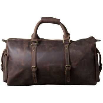 Brown Leather Holdall Bag Men