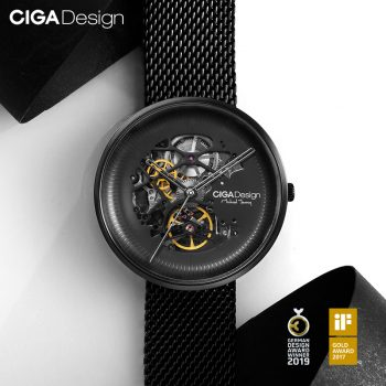 Ciga Design Michael Young Series Automatic Mechanical Skeleton Wristwatch Black