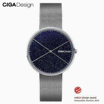 Ciga X Series Quartz Watch Men's Wristwatches 3atm Waterproof Stainless Steel Woven Strap Women