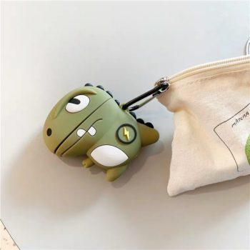 Airpods Silicone Protective Case Green Dinosaur