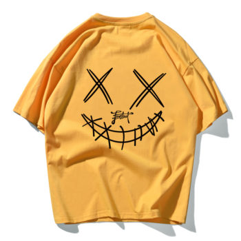 Devil Skull Print Couple Summer Fashion Men T Shirt Hip Hop