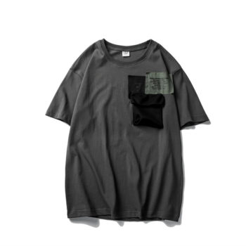 Mens Patchwork Pocket T Shirts