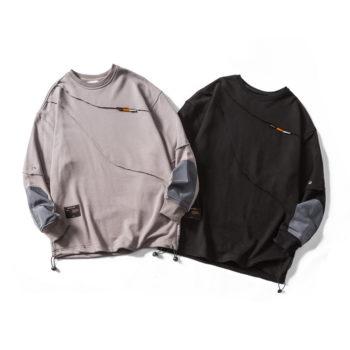 Men's Patchwork Long Sleeve Splicing T Shirt