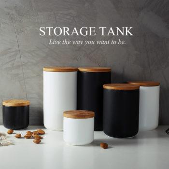 Nordic Ceramic Sealed Jar Grain Container