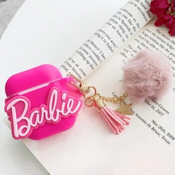 Airpods Silicone Protective Case Barbie With Fur (1)