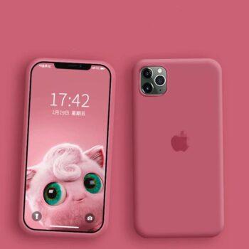Iphone Liquid Silikone Cover Camellia Red