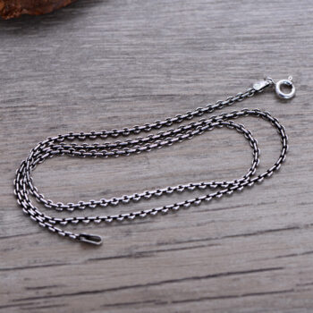 925 Sterling Silver 18 Inch 46cm Chain Cable Snake Rope Chain Necklaces