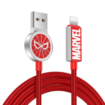 Original Marvel Spider Man Usb Iphone Lightning Cable Fast Charging Data Cable Charger
