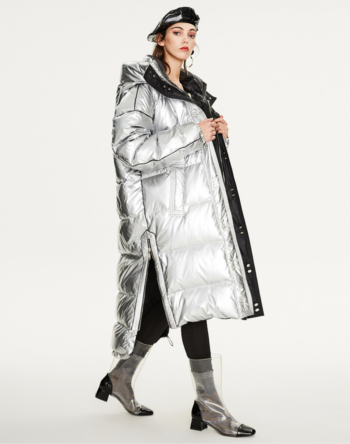Women's Shiny-Fashion Down Jacket.